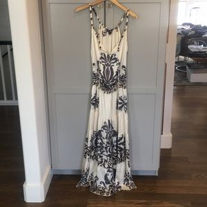 Satin sun/ strappy maxi dress